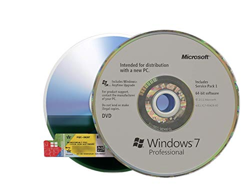 Windows 7 Professional OEM inkl. DVD, inkl. COA-Sticker, 32&64-bit Betriebssystem