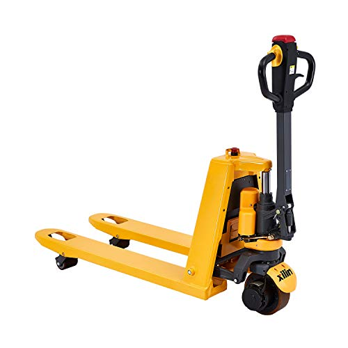 Xilin Electric Powered Pallet Jack 3300lbs Capacity Lithium Battery Mini Type Walkie Pallet Truck 48'x27' Fork Size