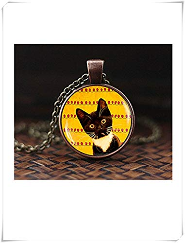 heng yuan tian cheng zwarte kat ketting, zwarte kitty hanger, kat ketting, kat liefhebber geschenken, schattige kitten hanger, heks Kitty sieraden, Kitty Art hanger,