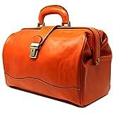 Ciabatta Doctor Satchel Bag Color: Orange
