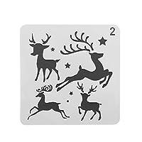 階層化スタンプ壁画紙カードスクラップブッキングクリスマス中空ステンシルフラワーテンプレートエンボス加工(2)