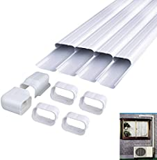 LBG Products Decorative PVC AC Line Set Cover Tubing Kit for Central Air Conditioner, Heat Pump, Ductless Mini Split (4in 14Ft)