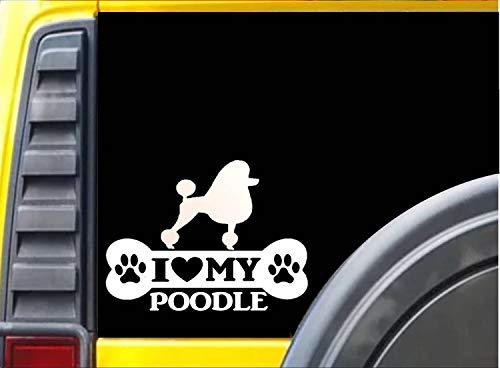 Lplpol Lustiger 17,8 cm Vinyl-Aufkleber Pudel Knochen Aufkleber Rettungshund Aufkleber Stoßstange Aufkleber für Fenster, Autos, LKW, Laptops, Wasserflasche