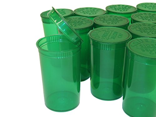 Groene beker met snapdeksel, 50 stuks, 80 ml inhoud, medicamentenbeker, geschikt voor kruiden, pillendoosje, houder voor ongeveer 3,5 g