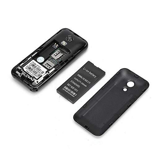 Mini Marcador Bluetooth, teléfono móvil de Doble Tarjeta, Regalo de Doble Tarjeta para Personas de Mediana Edad y Ancianos al Aire Libre para Hombres de Negocios(Black, Coffee)