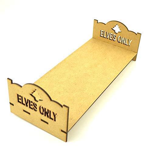 Houten Elf op de plank BED, accessoire, Kerstmis, MDF, Lasercut, platte verpakking
