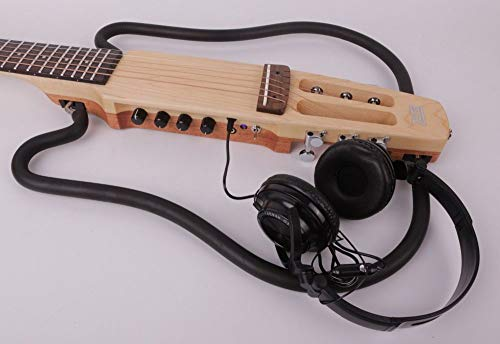 ABMBERTK , Gitarre, kopflose Akustik, elektrischeSilent Travel Gitarre, rechte Linke tragbare Reise, eingebautes Effektset, rechte Hand