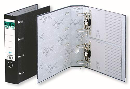 ELBA Wolkenmarmor Doppel-Ordner A4, 7,5 cm breit, schwarz, 1 Stück