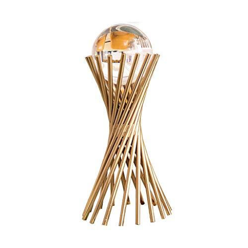 Adivinación con bola de cristal Decoración de la bola de cristal transparente, Decoración del hogar nórdicos bola de cristal bola de cristal con soporte metálico, for el tratamiento, la meditación, el