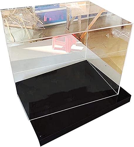 YAOJIA vitrinas expositoras Vitrinas Coleccionables con Base Negra, Vitrina con Tapa Cubo Caja Acrílica para Figuras De Acción Juguetes Muñecas Coleccionables (Color : Clear, Size : 17x13x7cm)