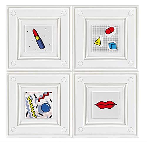 Wand-Aufkleber PVC-3D Wall Panels 3D Peel and Stick Brick Wall Panels for Home Office, Familie Schlafzimmer Hervorgehoben Walls Schmutzige Wände (Größe: 70x70cm) (Color : Pattern, Size : 5 Pack)