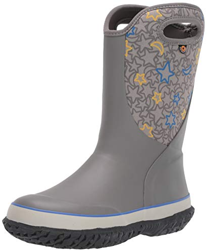 BOGS Kids Slushie Waterproof Snow Boot for Boys and Girls, Night Sky - Light Gray Multi, 2 M