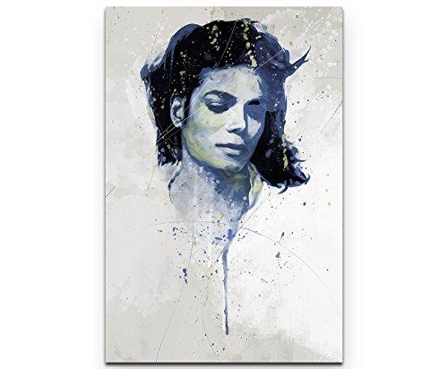 Paul Sinus Art Michael Jackson V 90x60cm auf Leinwand gespannt fertig zum aufhängen