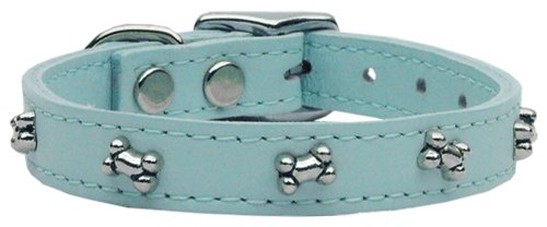 Mirage Pet Products Bone Leather Baby Dog Collar, 26