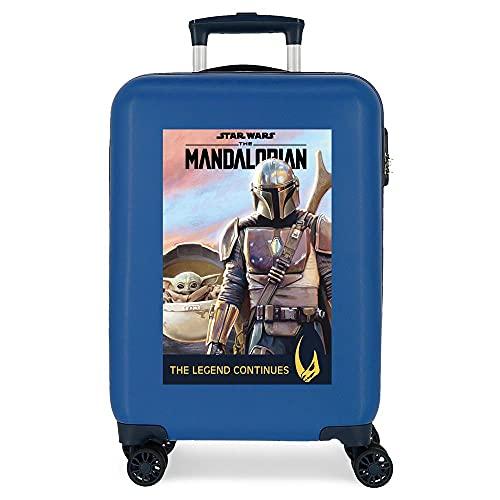 Star Wars Legend Valigia da cabina blu 38 x 55 x 20 cm rigida ABS chiusura a combinazione laterale 34 l 2 kg 4 ruote doppie bagaglio a mano