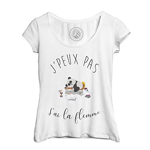 T Shirt Femme Jpeux Pas Jai La Flemme Humour Dessin Panda Avachi Sur Bureau Animaux