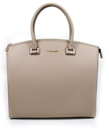 Flora + Co Jet Set XL Travel Henkeltasche Bogen Taupe Saffiano Business Tote