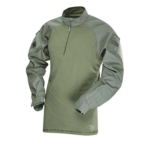 Tru-Spec T.R.U 1/4 Zip Combat Shirt Chemise, Olive-Vert Olive, L Haut Homme