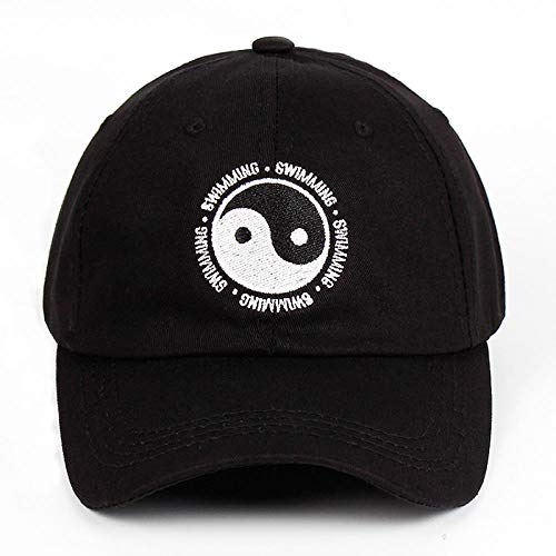 VGFTP Papa Hut 100% Baumwolle Schwimmen Yin und Yang Klatsch Bestickter Hut Snapback Baseball Cap für Männer und Frauen 54-63cm