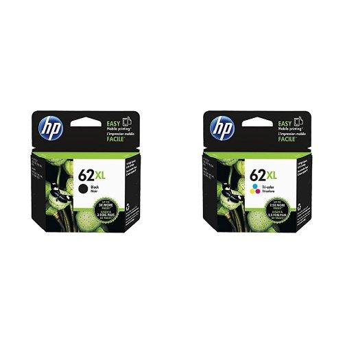 HP 62XL Farbe Original Druckerpatrone mit hoher Reichweite für HP ENVY, HP Officejet + HP 62XL Schwarz Original Druckerpatrone mit hoher Reichweite für HP ENVY, HP Officejet