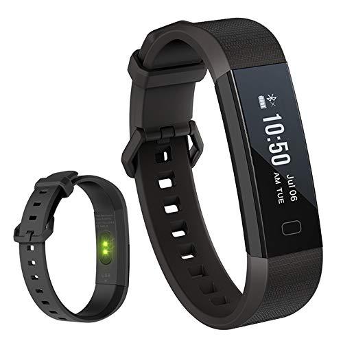 YUYLE Smartwatches Armband bloeddrukmeter bloedzuurstof intelligente armband stappenteller, Blanco Y Gris