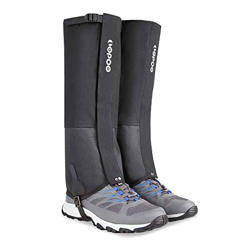 LOPOO Leg Gaiters Waterproof for Men and Women, Anti-Tear Snow Boot Gaiters 900D Nylon Fabric Breathable Shoe Gaiters for Outdoor Hiking Hunting Climbing (X-Large)
