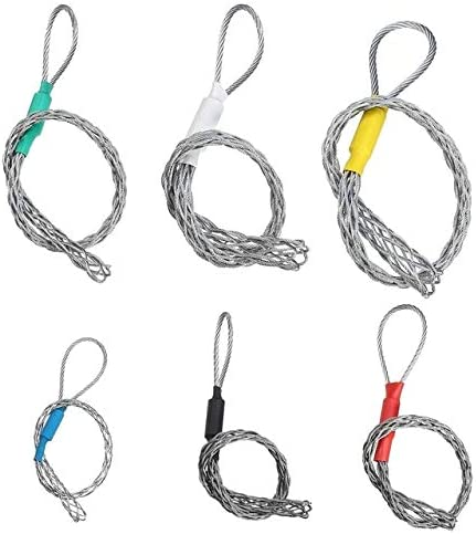 Galvanizing Metal Cable Socks Antislip Pipe Conduit Cable Puller wire grips Pull Net Cover Accessory For 4-25mm - (Color: Red 10 To 12mm)