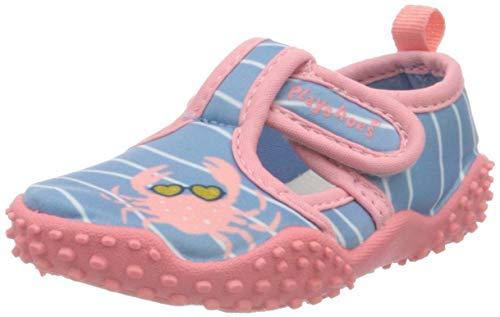 Playshoes Mädchen Aquaschuhe Krebs Laufschuh, Blau Pink, 18 19 EU