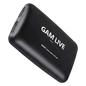 UCEC GAM Live 4K USB 3.0 Game Video Capture Card 1080p60 and 4K30 Capture Card for Live Streaming Video Recording Compatible with PS5 PS4 Xbox One Xbox 360 Switch and More