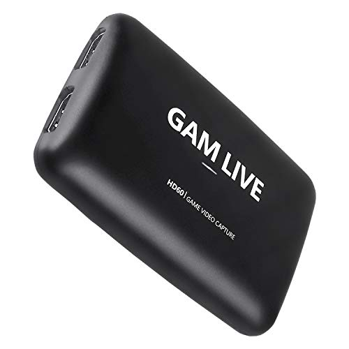 UCEC GAM Live, 4K USB 3.0 Game Video Capture Card, 1080p60 and 4K30 Capture Card for Live Streaming, Video Recording, Compatible with PS5, PS4, Xbox One, Xbox 360, Switch and More