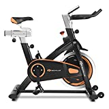GOPLUS Indoor Cycling Bike, Stationary Bicycle with Flywheel and LCD Display, Cardio Fitness Cycle Trainer Professional Exercise Bike for Home and Gym Use (30 LBS Flywheel)