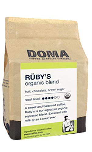 Doma Coffee 'Ruby's Organic Espresso' Medium Roasted Fair Trade Organic Whole Bean Coffee - 12 Ounce Bag