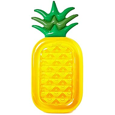 Vickea Inflatable Pineapple Pool Float Raft Large Outdoor Swimming Pool Inflatable Float Toy Floatie Lounge Toy for Adults & Kids