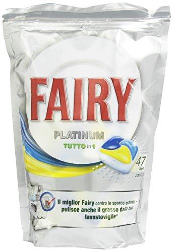 Fairy - Platinum Tutto in 1, Detergente per Lavastoviglie, Limone, 47 capsule