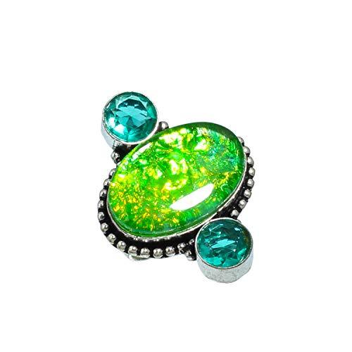 Hermoso anillo de piedra preciosa de triplete...