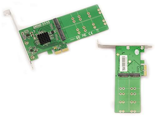 Kalea Informatique Controller-Karte PCIe 2.0, 2 x für 4 x SSD M2 (Typ SATA) – für M.2 NGFF in B Key oder B + M Key (SATA) – mit LOW und High Profile – Chipsatz Marvell 88SE9235