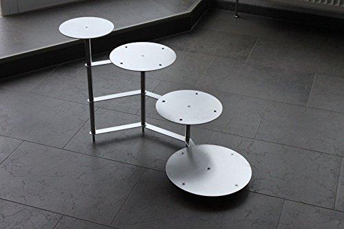 edelstahlheini.de Support à gâteaux à 4 étages en Aluminium tortenetagere pièce Rond, diamètre 20 26 26 32 cm