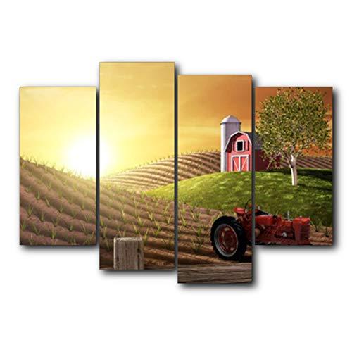 sjkkad landelijk motief poster afdrukken zonneschijn abstract vintage canvas schilderij muurkunst voor bruiloftsdecoratie Home Decor-40 x 80 40 x 100 cm geen lijst