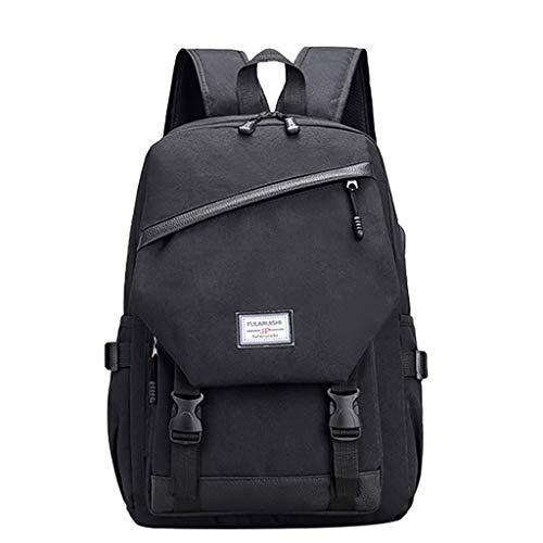 ZEELIY Rucksack Für Schule, Mann-Geschäfts-Laptop-beiläufiger Rucksack-Kursteilnehmer-Beutel-im Freien Spielraum-Rucksack mit USBCanvas Rucksack Schulrucksack Wanderrucksack Reisetasche