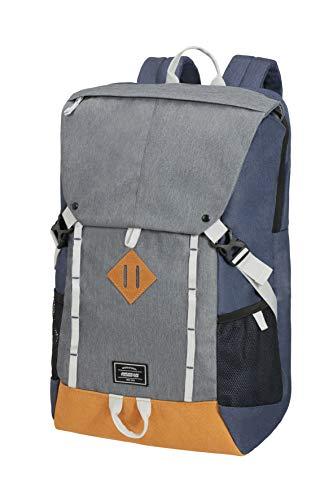 American Tourister Urban Groove Lifestyle Zaino Porta PC, 17.3 pollici, 49.5 cm, 28 L, Multicolore (Grey/Blue)
