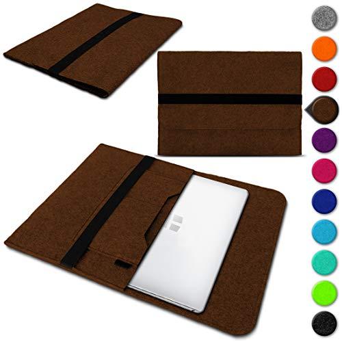 UC-Express Laptop Schutzhülle für Trekstor Surftab Theatre 13,3 aus Filz mit Innentaschen Sleeve Hülle Tasche Cover Notebook Hülle Tasche NAUCI, Farbe:Braun