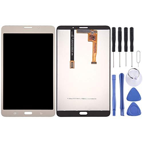 un known Reemplazo Herramientas de experimentos de Prueba Pantalla LCD y Montaje Completo de digitalizador para Galaxy Tab A 7.0 (2016) (versión 3G) / T285 Accesorio (Color : Gold)