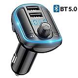 Car Bluetooth FM Transmitter, Aigital Upgraded Wireless Car FM Radio Transmitter Adapter Bluetooth
