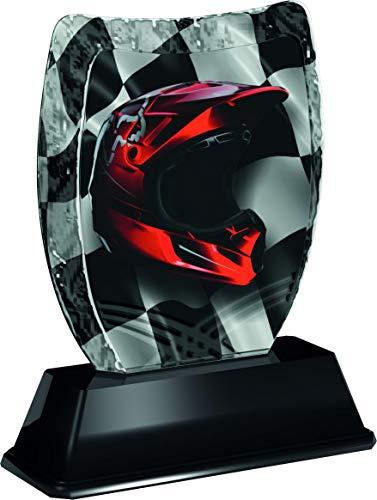 Trophy Monster Iceberg Casco de Motocross con Placa grabada Gratis. Trato de trofeos a Granel. para Clubes y Ligas. Hecho de acrílico Impreso (3 tamaños)