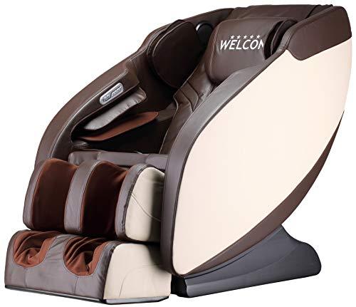 WELCON Luxus Massagesessel | Massagestuhl mit Shiatsu Massage Sessel braun/beige Prestige II