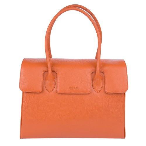 diboni Handtasche MADISON DE LUXE aus Leder (Glutorange)