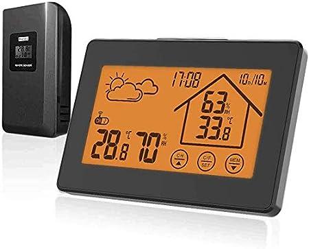 Schwarz317 Digital Thermometer Hygrometer Innen und Au/ßen Raumthermometer Hydrometer BALDR Wetterstation Funk mit Au/ßensensor