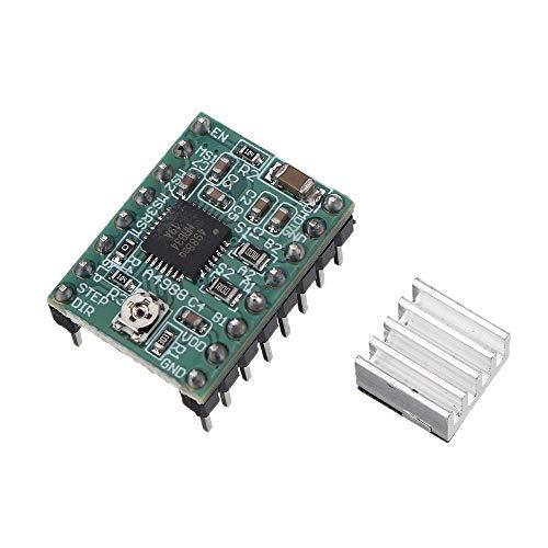 CoCocina 3Pcs A4988 Stepper Motor Driver Board with Heatsink for 3D Printer