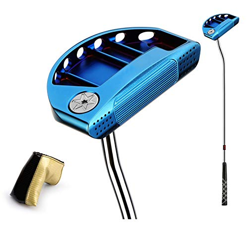 KXDLR Golfclubs Golfputter 34-inch stalen as met golf headshoes, blauw