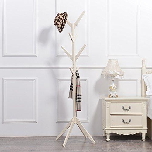 Dongyd - Perchero de madera maciza para dormitorio (5 unidades)